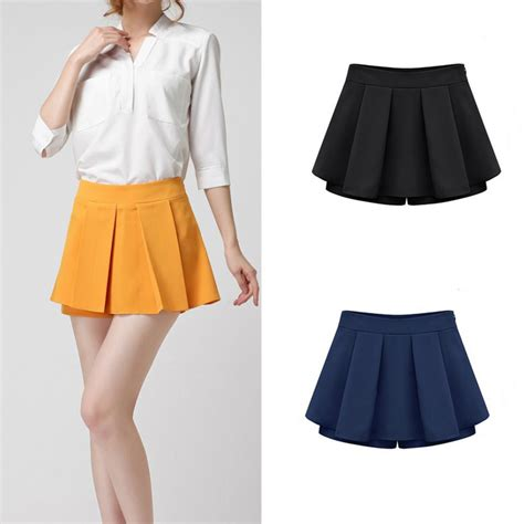 summer shorts skirt casual tiered skirts high