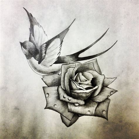 black grey rose tattoo designs black and grey with design by dazzbishop