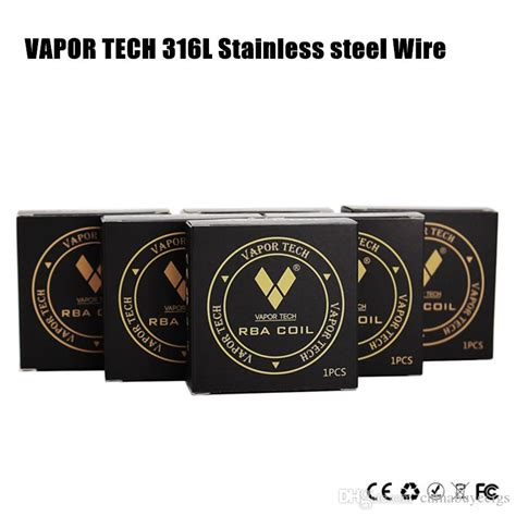 Vaportech Stainlees Steel 316l 1meter 2426 authentic vapor tech 316l stainless steel wire high resistance ss316 heating wire 26 28 30gauge
