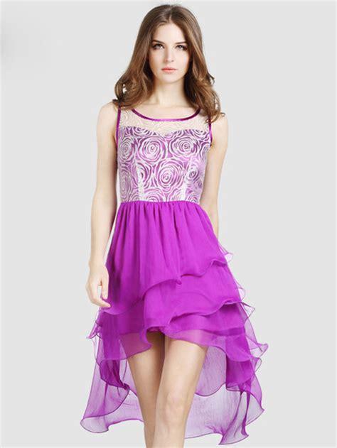 girly midi dress chiffon purple midi dress princess style girly
