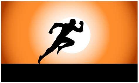 Superman Siluet running silhouette vectors stock in format for
