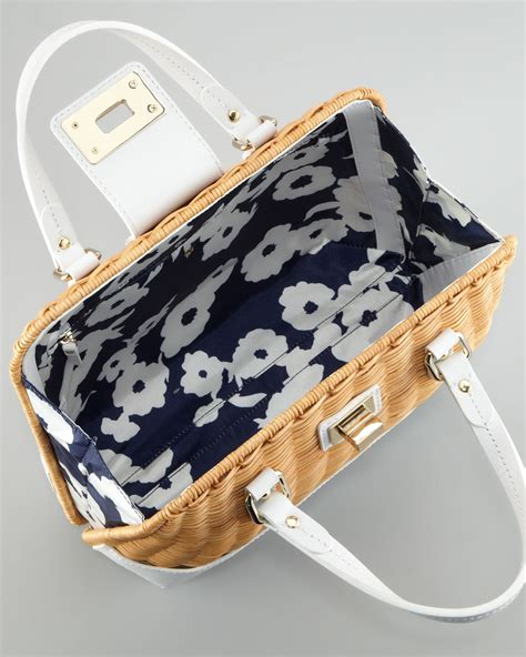 Kate Spades Wicker Clutches And Satchels by Lyst Kate Spade New York Waverly Terrace Medium Wicker