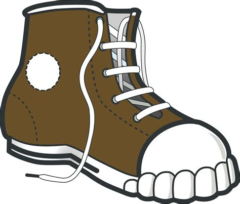 cartoon boat brown clipart brown boot