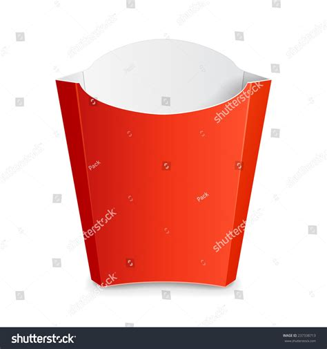 fries packaging template fries paper box on stock vector 237338713