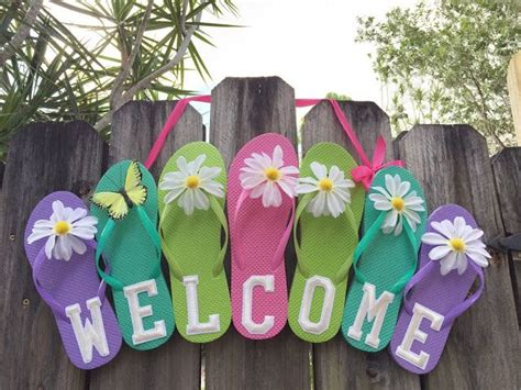 Welcome Sign Hoop flip flop welcome sign iron on embroidered letters