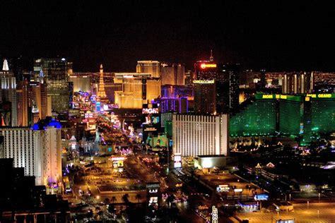 Las Vegas Bright Lights Green City Lights In Las Vegas