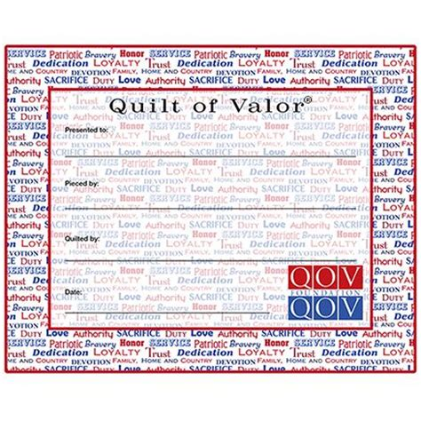 Quilt Of Valor Label by 120 Best Images About Qov On Quilt Labels