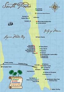 map south padre island 2009 south padre island map