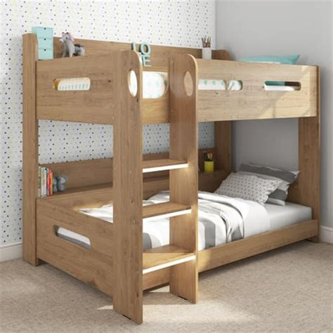 bunk bed uk sky bunk bed in oak ladder can be fitted either side
