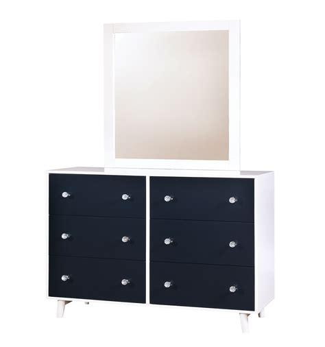 Dresser With Mirror White by Alivia Blue White Dresser Mirror