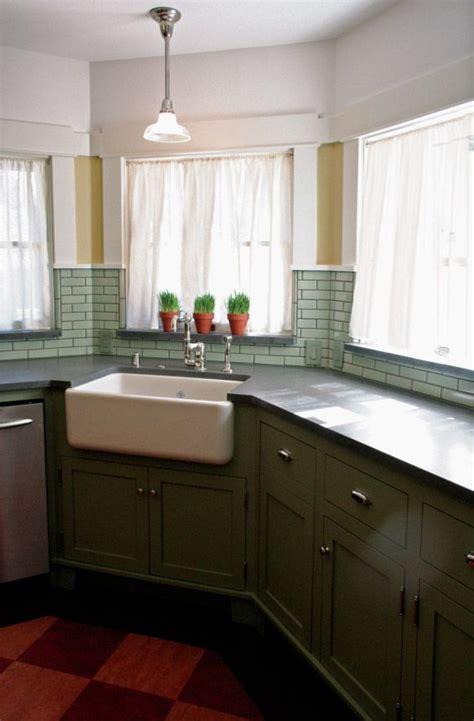 Corner Sinks Kitchen Farmhouse Corner Sink Kitchens Pinterest
