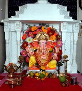 temple decoration ideas for home eco friendly ganpati decoration ideas for home