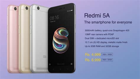 redmi 5a xiaomi redmi 5a desh ka smartphone launches in india at