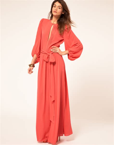 Miss Sixty Dress miss sixty miss sixty maxi dress with sleeves in pink