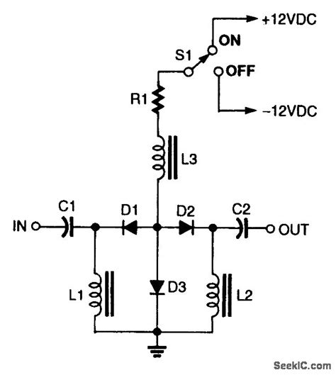 pin diode switch circuit series shunt pin diode rf switch control circuit circuit diagram seekic