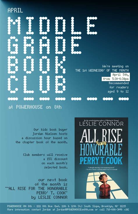 all rise for the honorable perry t cook books events powerhouse on 8th