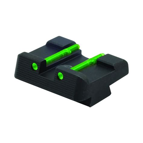 hiviz com hiviz fiber optic front rear sight combo glock large frame