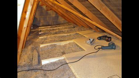 diy loftattic insulation   boarding  storage
