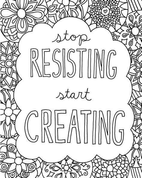 printable page of quotes 17 best images about coloring book pages on pinterest