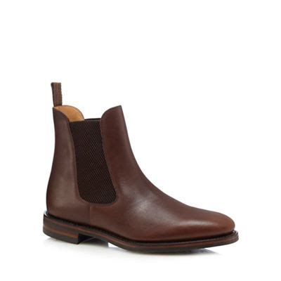 loake brown leather blenheim chelsea boots debenhams