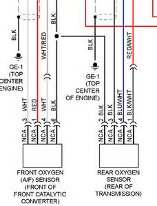 what is the wire colors on the oxygen sensors in my subaru