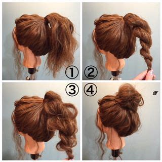 cute bun styles with xpression hair how to make the perfect messy bun beauty pinterest