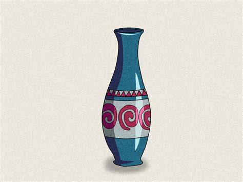 Drawing Of Vase by How To Draw A Vase 5 Steps With Pictures Wikihow