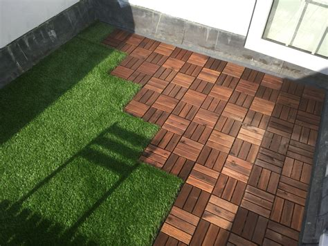 holz teppich ikea roof terrace with ikea decking tiles and oakham artificial