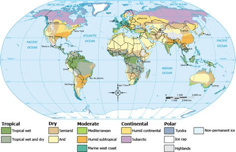 robinson map what projection does the global climate region map from use geographic information