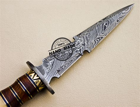 Handmade Damascus Steel Knife - damascus dagger knife custom handmade damascus steel knife