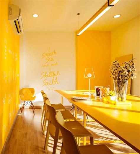 yellow interior 10 bold exles of monochromatic interiors contemporist