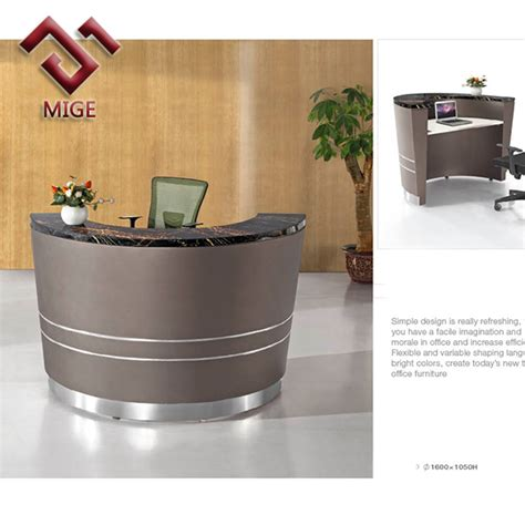 shop desks by size small size modern black reception table buy