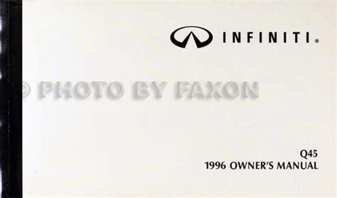 auto repair manual free download 1996 infiniti q parental controls 1996 infiniti q45 owner s manual original