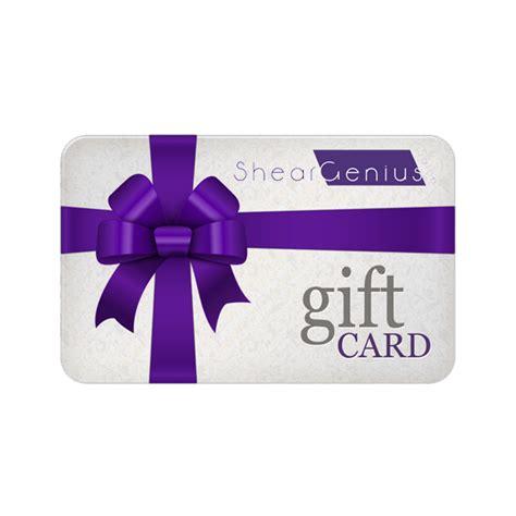 Salon Gift Card - gift cards shear genius salon