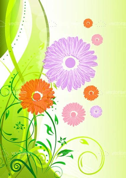 Green Card Background Check Colourful Floral Card Background Vectorjunky Free Vectors Icons Logos And More