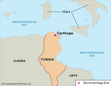 map of carthage carthage ancient city tunisia britannica