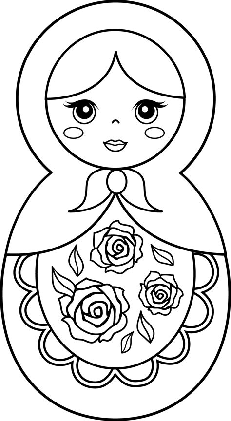 nesting dolls coloring page images