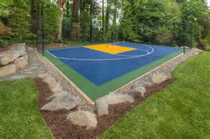 Fire pit sport court oversized paver patio traditional
