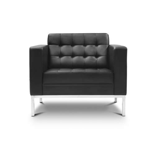 Black Leather Lounge Chair by Piazza Black Leather Lounge Chair