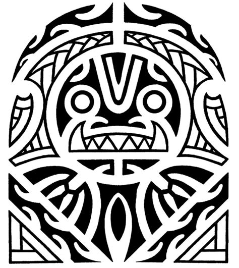 tribal tiki tattoo maori designs photo gallery and