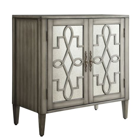 two door accent cabinet georgina grey 2 door mirrored cabinet homehills cabinets