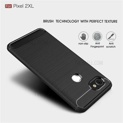 Pixel 2 Xl Armor Carbon Tpu Casing Cover carbon fiber texture brushed soft tpu back for pixel 2xl black tvc mall