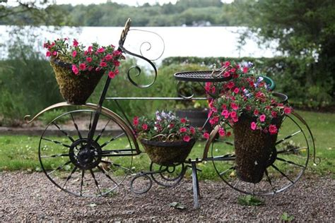 Wrought Iron Bicycle Planter by Wrought Iron Bicycle Planter Recycled Metal Sculptures