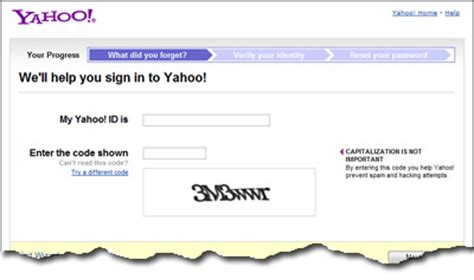 email yahoo forgot password forgot yahoo email address id and password