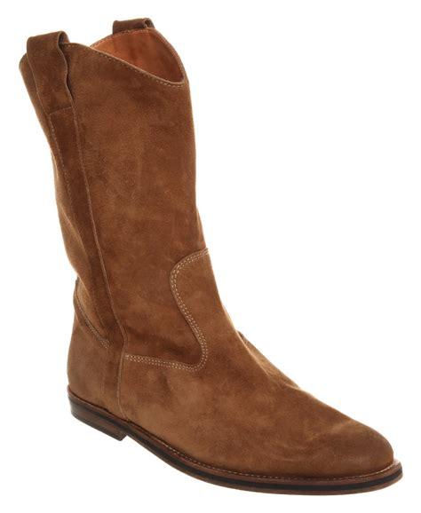 margiela boots mens mens martin margiela camarguaise suede boot beige suede ebay