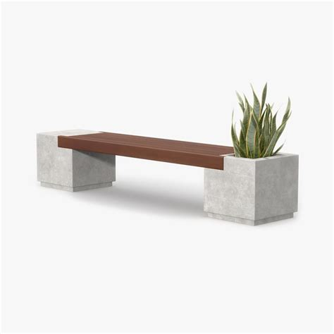bench for plants bench wood plant 3d max