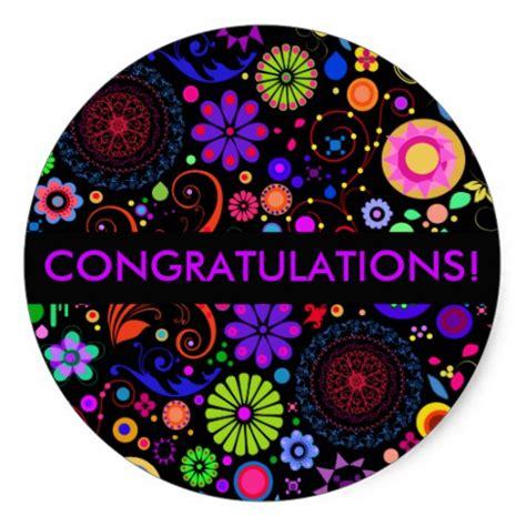 Congratulations Stickers congratulations classic sticker zazzle