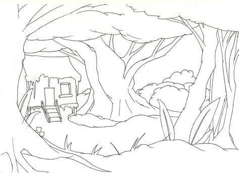 coloring pages of background jungle background coloring pages