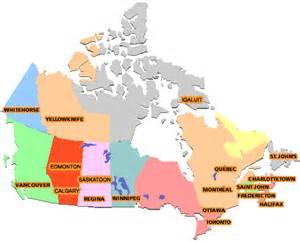 map de canada en francais територіально адміністративний розподіл