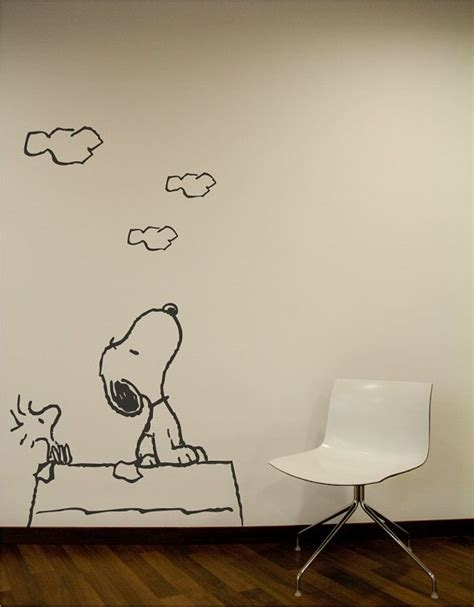 wandtattoo kinderzimmer snoopy snoopy wall s wall decal